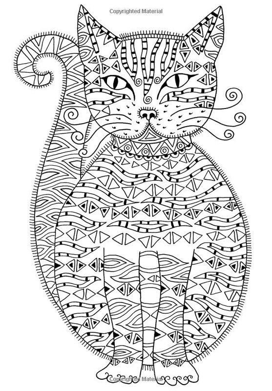 art therapy coloring pages cat - photo#4