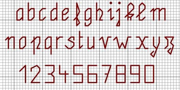 Grilles lettres et chiffres - Grille abecedaire point de croix ...